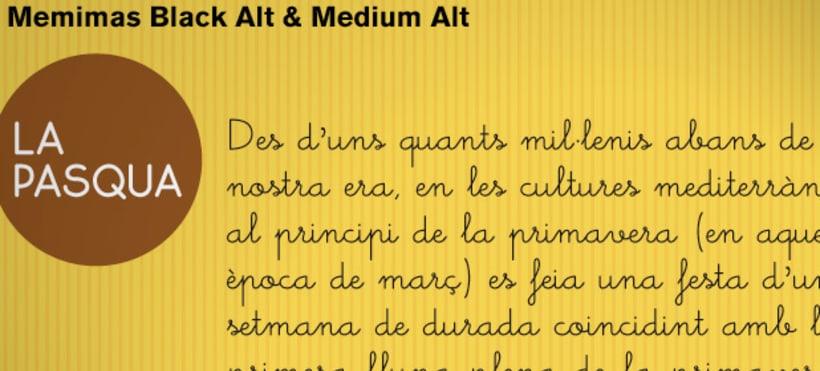 Memimas, una tipografía para los libros infantiles 2