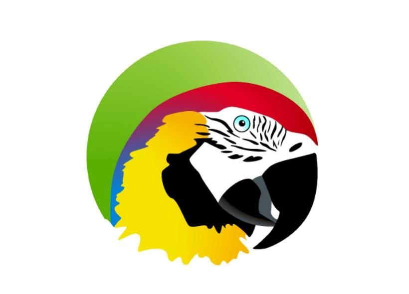 Diseño de logotipo para Lorolandia, una empresa madrileña que vende por internet todo tipo de loros, guacamayos, cacatúas, y otras aves exóticas. Además realizan aulas de la naturaleza y otros proyectos culturales en torno al mundo del loro. -1