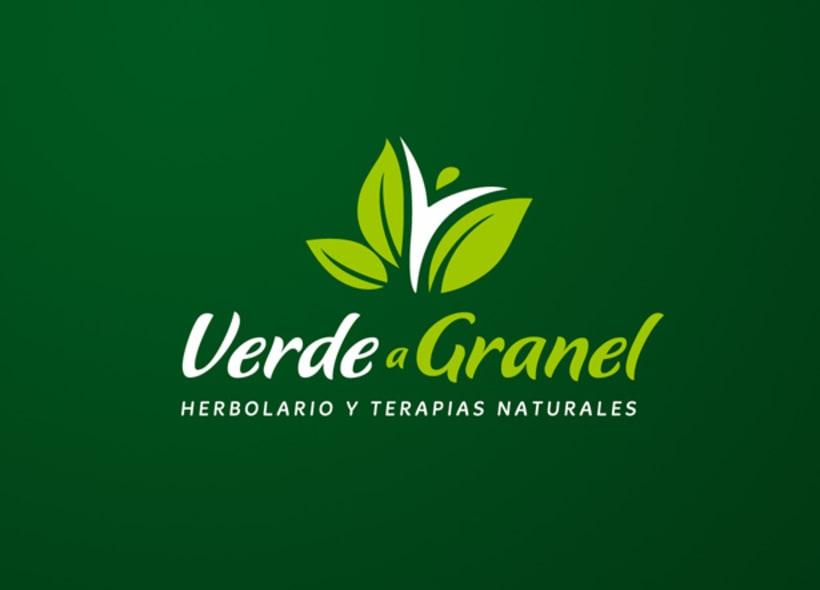 """Diseño de logo para """"Verde a granel"""", un herbolario que además es tienda de té a granel y un centro de terapias basadas en la medicina natural. -1"""