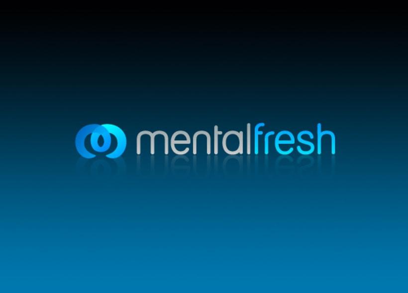 Logotipo para Mentalfresh, gabinete psicológico que actúa sobre problemas cotidianos como el estrés, la ansiedad, dependencias y hábitos poco saludables aplicando técnicas basadas en la hipnosis. -1
