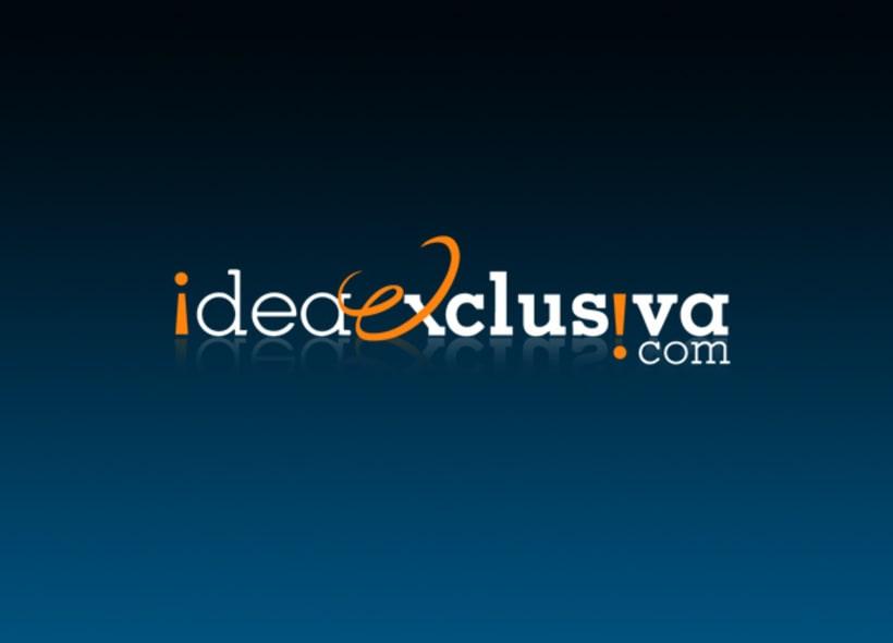Diseño de logotipo para ideaexclusiva.com, una web especializada en todo tipo de regalos exclusivos para empresas, promociones, bodas, nacimientos, etc... -1