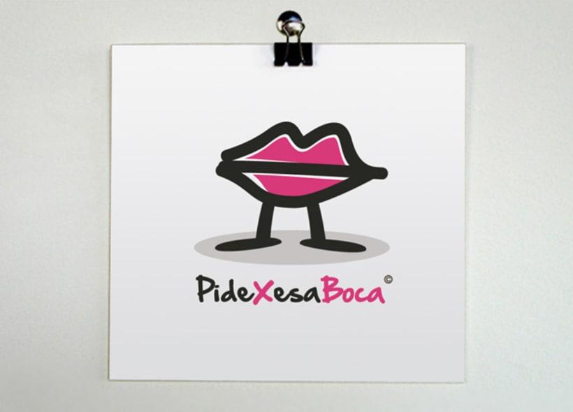 """Diseño de logotipo para """"Pide por esa boca"""", una empresa de productos impresos en estilo retro, vintage y con guiños al mundo """"gay"""". Comercializan numerosos productos de decoración, regalos, carteles, camisetas... -1"""