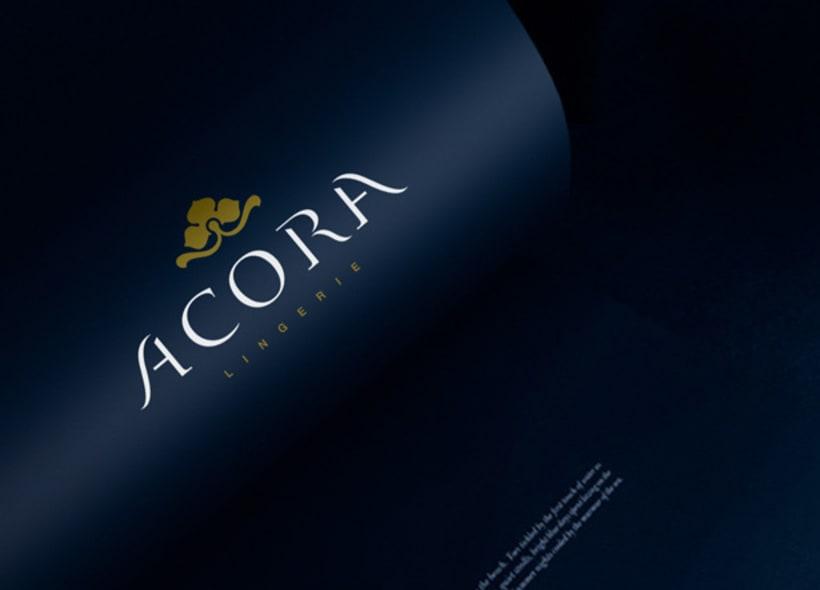 Diseño de logotipo para Acora, firma de lencería y ropa interior femenina. -1