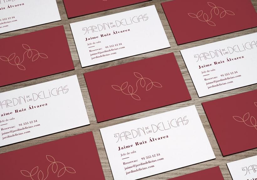 """Imagen corporativa para restaurante """"El Jardín de las delicias"""" y tipografía creada expresamente para el proyecto. 3"""