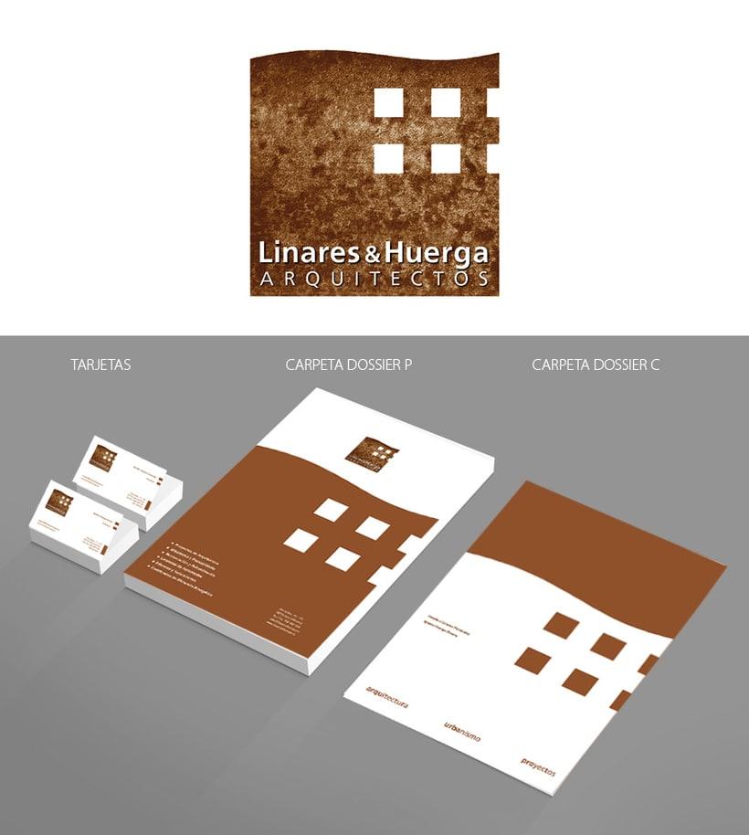 Branding : Actualización de papelería para el Estudio de arquitectura Linares & Huerga -1