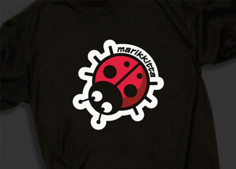 """Diseño de logotipo para marikkitta, una empresa de camisetas y otras colecciones de ropa con dibujos e imágenes de temática """"gay"""". -1"""