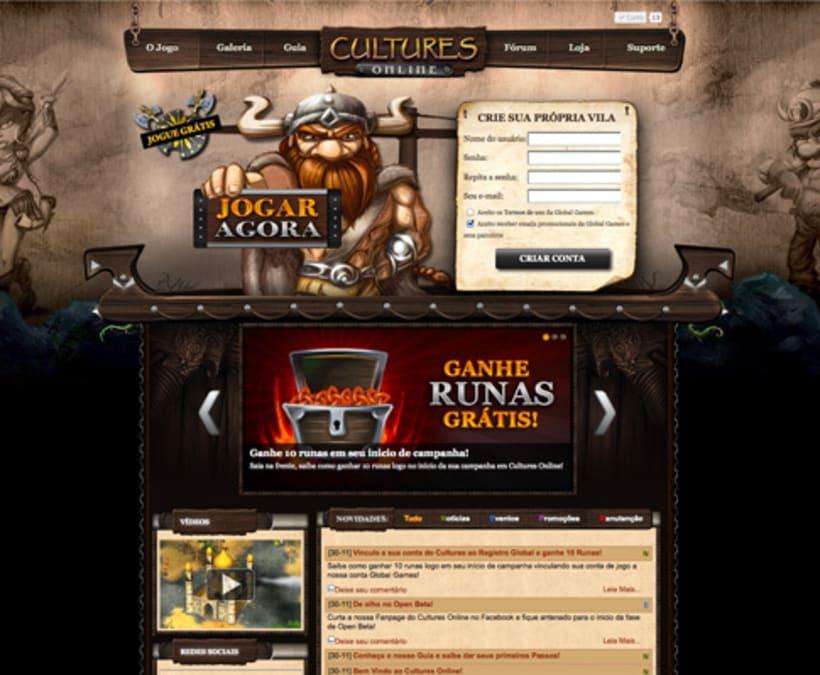 Design Web site Juego Cultures Online -1