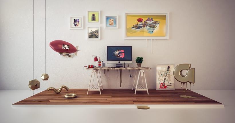 My Desk!! -1