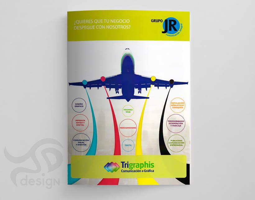 Proyecto editorial: díptico publicitario TRIGRAPHIS  3