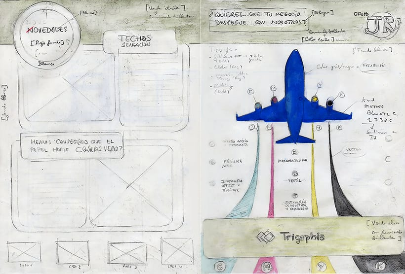 Proyecto editorial: díptico publicitario TRIGRAPHIS  1