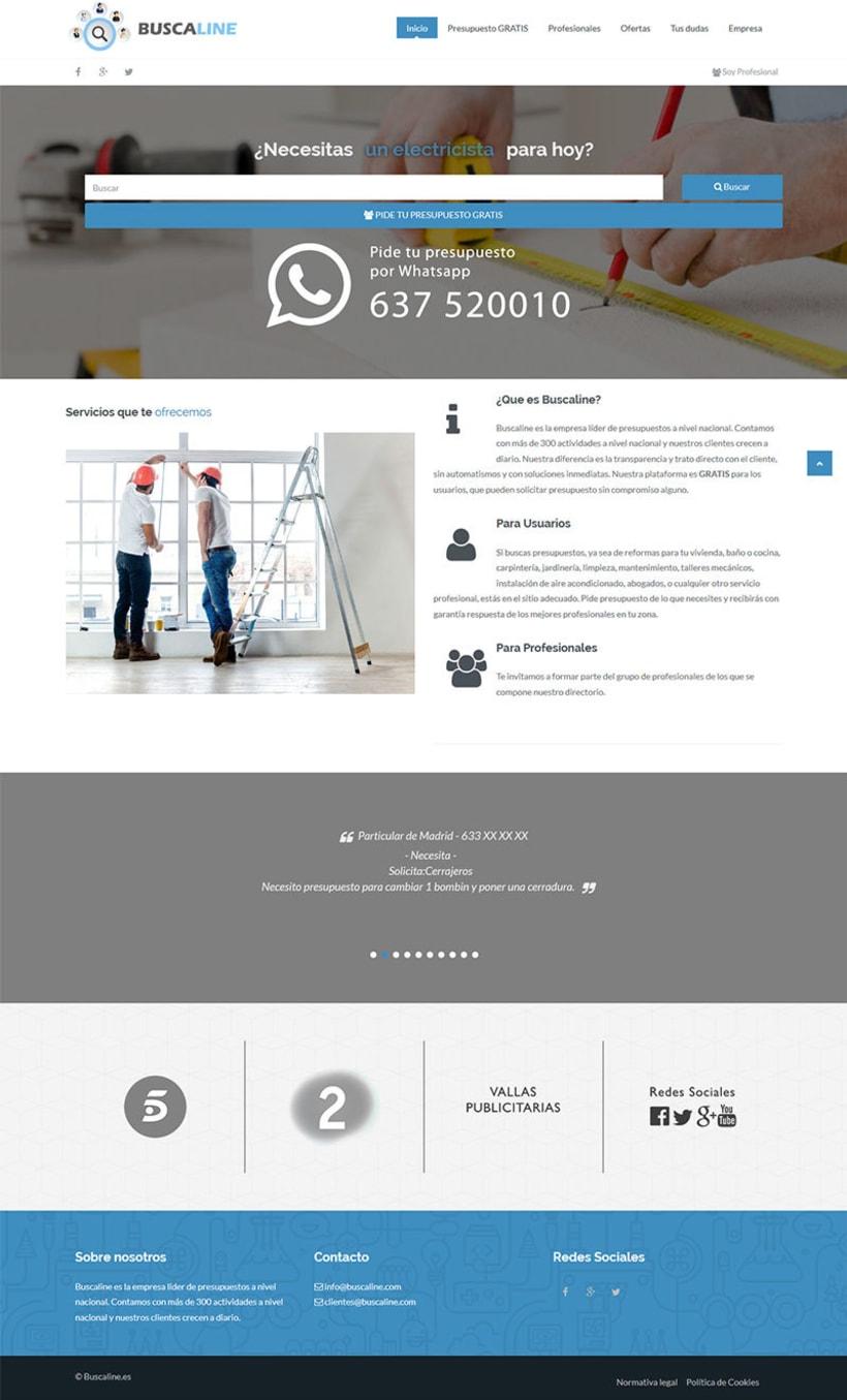 Diseño Web Buscaline 0