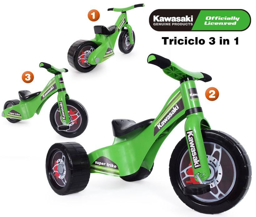Triciclo evolutivo 3 in 1 KAWASAKI 0