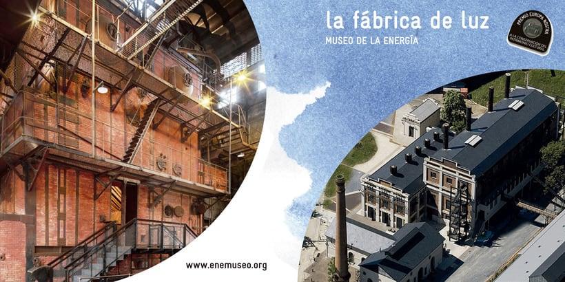 Flyer para La Fábrica de Luz. Museo de la Energía 4