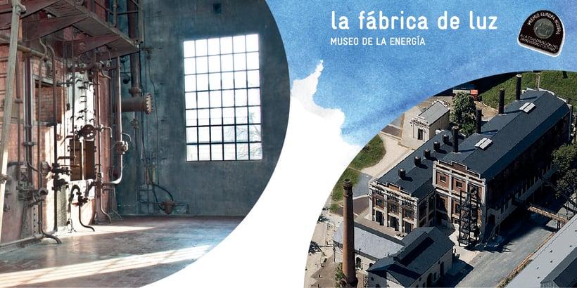 Flyer para La Fábrica de Luz. Museo de la Energía 12