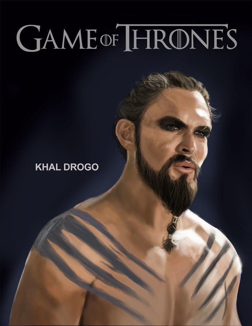 """Ilustración de Khal Drogo """"Game of Thrones"""". 0"""