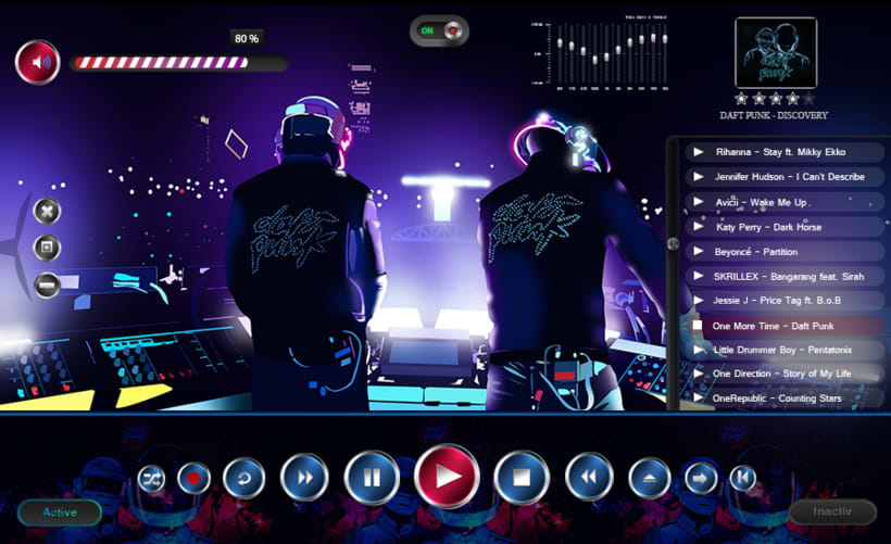 "Interfaz gráfica reproductor ""Daft Punk"" 0"