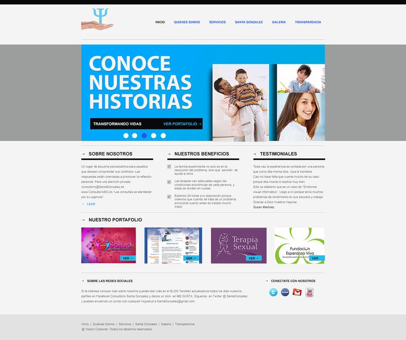 """Proyecto web """"Salud y Personalidades"""". 0"""