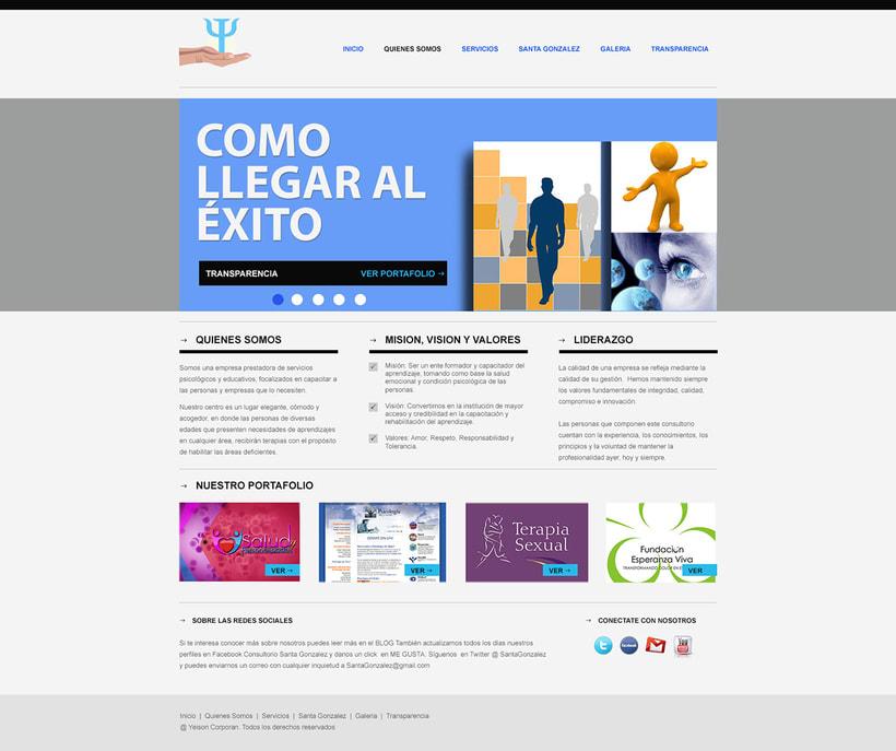 """Proyecto web """"Salud y Personalidades"""". 1"""