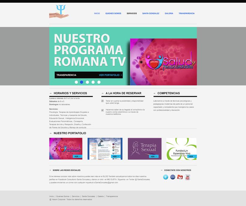 """Proyecto web """"Salud y Personalidades"""". 2"""