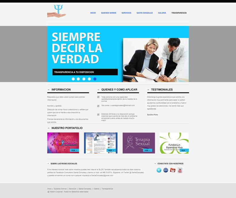 """Proyecto web """"Salud y Personalidades"""". 3"""