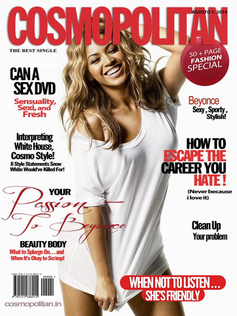 Portada para Cosmopolitan de Beyonce 0