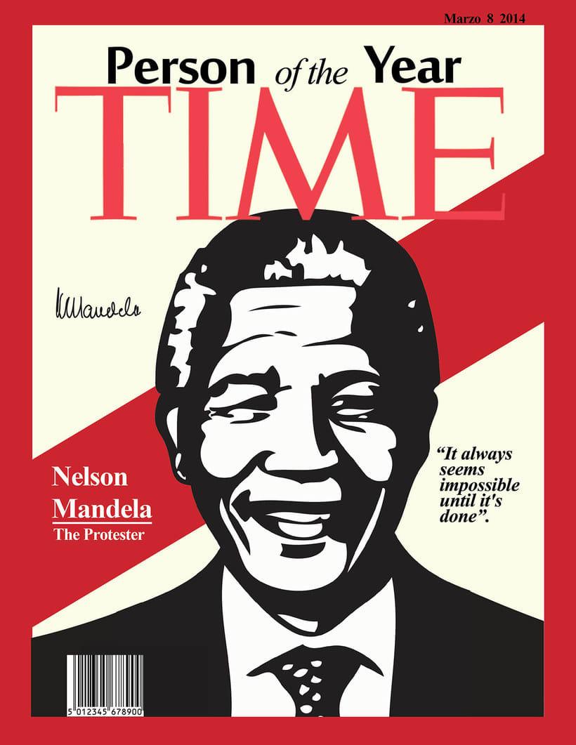 Portada para la revista Time de Nelson Mandela 0