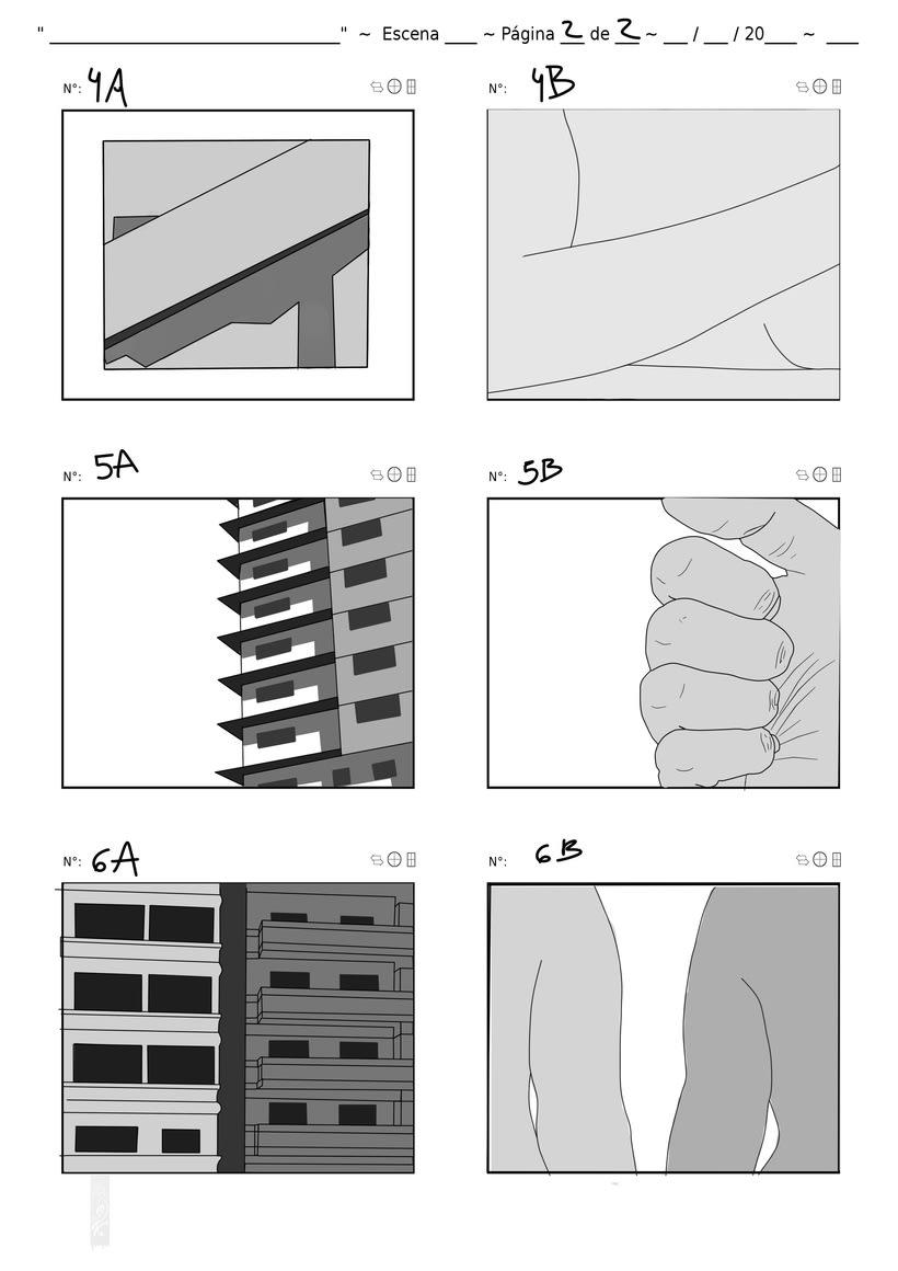 Parte del Storyboard - Mármol ( Videoarte) 0