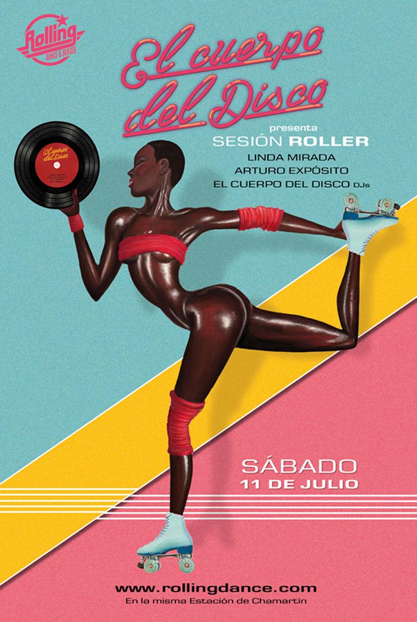 Diseño Sesión Roller de El Cuerpo del Disco. Julio 1