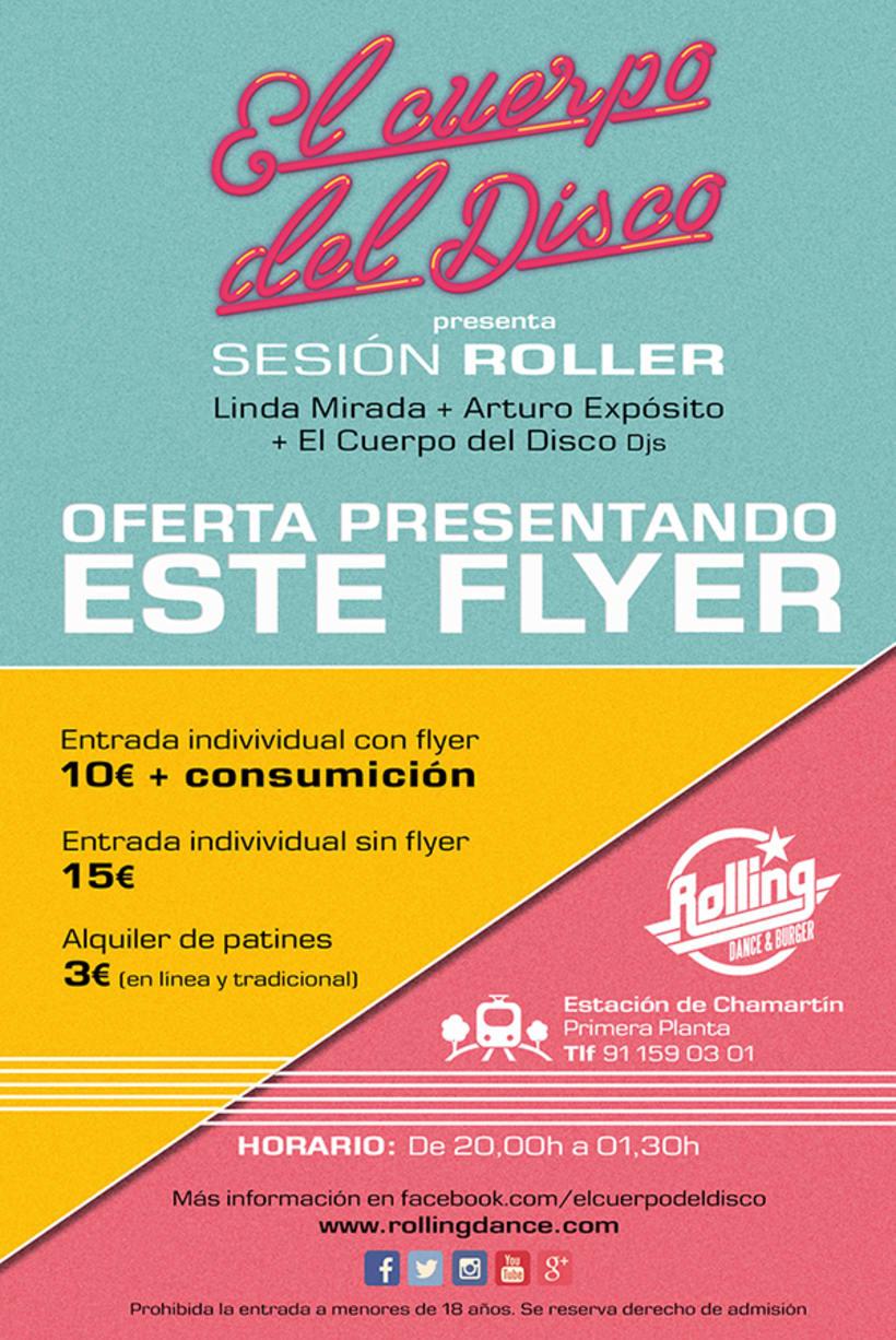 Diseño Sesión Roller de El Cuerpo del Disco. Julio 2