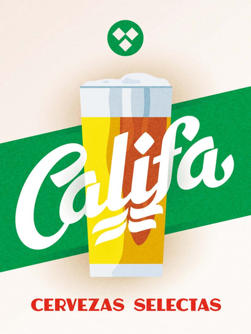 Cervezas Califa. Lettering y Rótulos 2