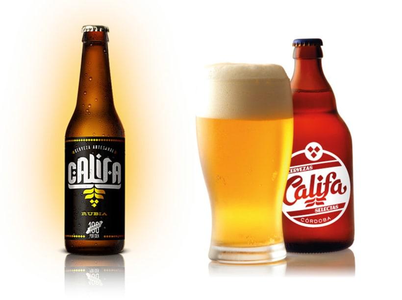 Cervezas Califa. Lettering y Rótulos 1