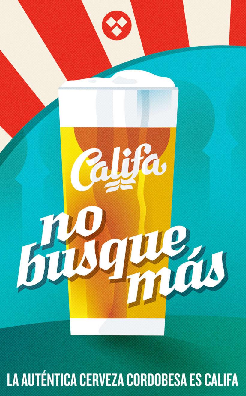 Cervezas Califa. Lettering y Rótulos 5