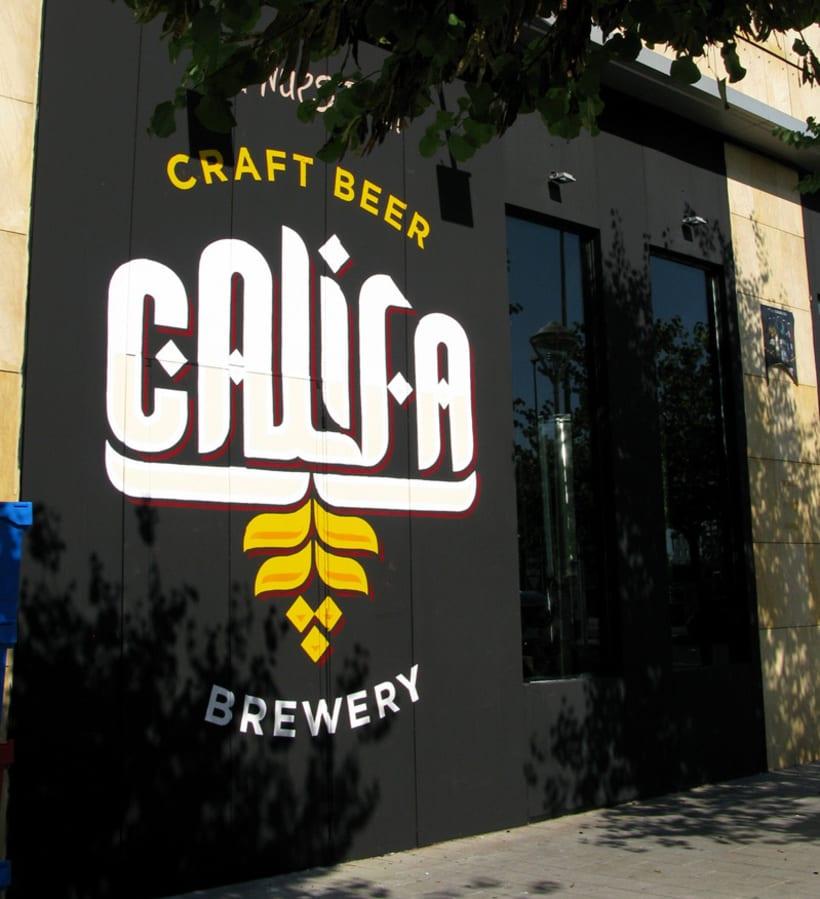 Cervezas Califa. Lettering y Rótulos 15