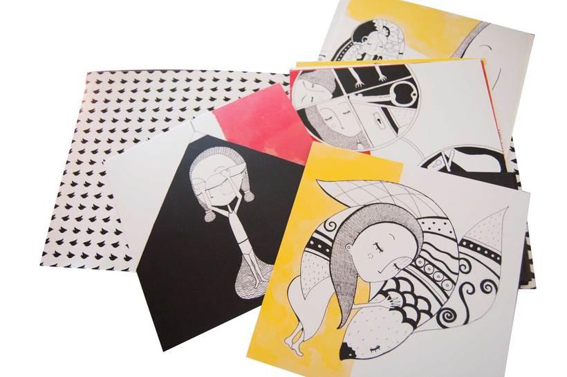 Colección de Tarjetas Ilustradas (El libro de los abrazos - Eduardo Galeano) 8