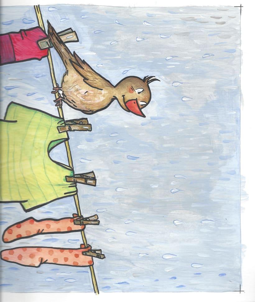gorriones en el naranjo 1