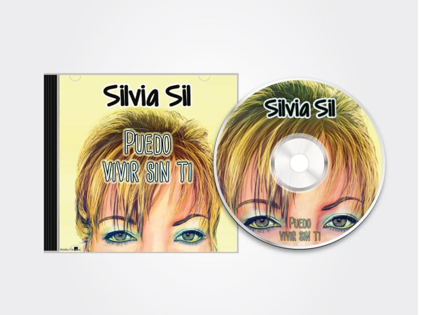 Digital illustration and layout for the cover, back and label of a SYL CD 1