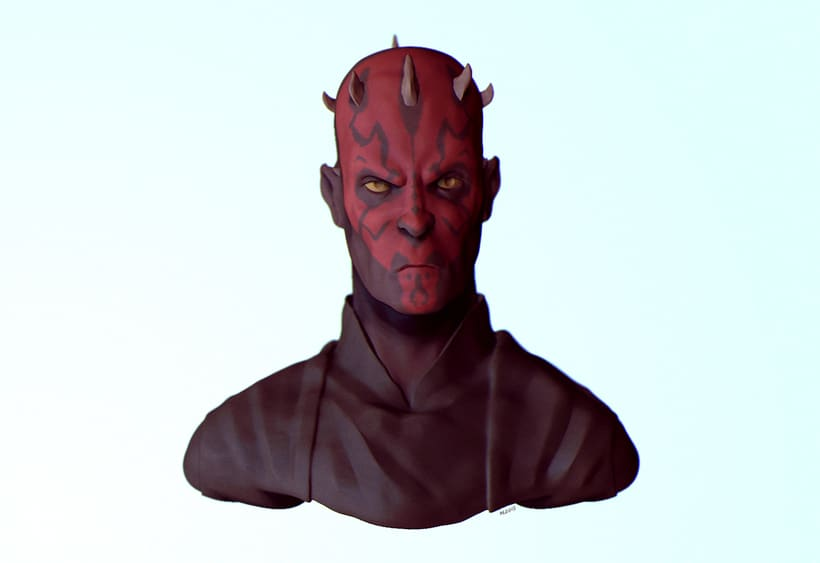 Darth Maul 3D Bust 0