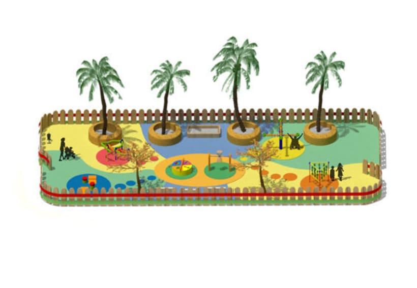 Parque infantil - 3D 1