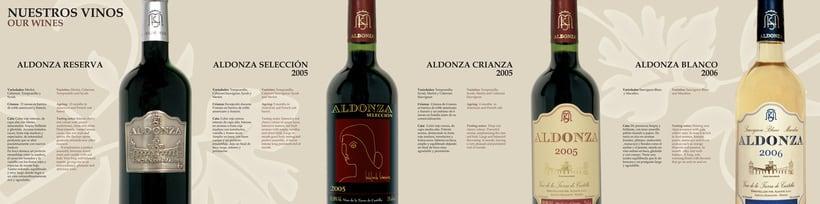 Folleto presentación Vinos Aldonza 0