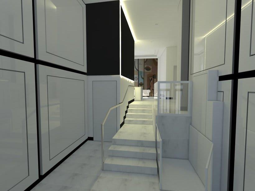 Proyecto 3d interiorismo portal en madrid domestika for Cursos interiorismo madrid
