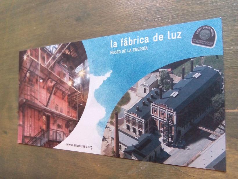 Flyer para La Fábrica de Luz. Museo de la Energía 2