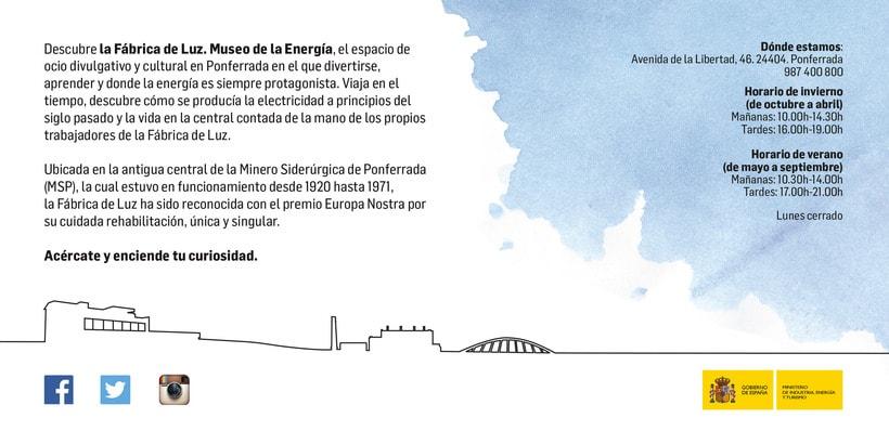 Flyer para La Fábrica de Luz. Museo de la Energía 5