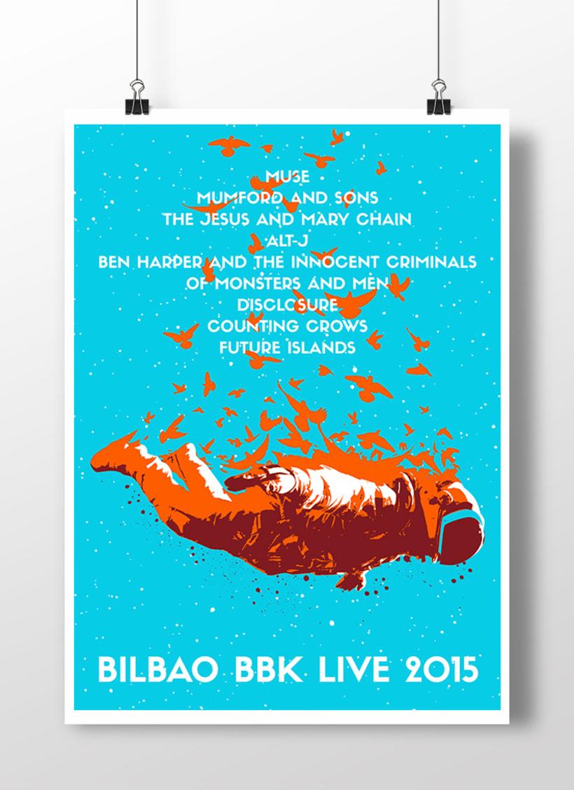 Cartel Aniversario Bilbao BBK Live 1