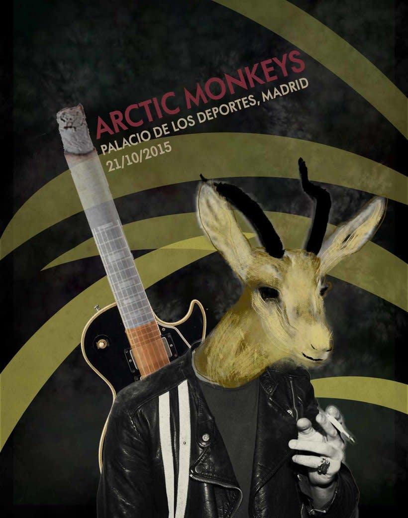 """Cartel """"Arctic Monkeys"""" [Mi Proyecto del curso Ilustración para music lovers] 1"""