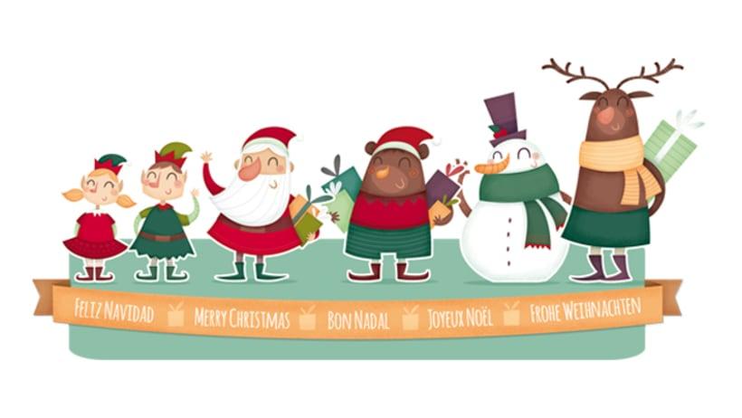 Colección Navidad. Ilustración infantil 1