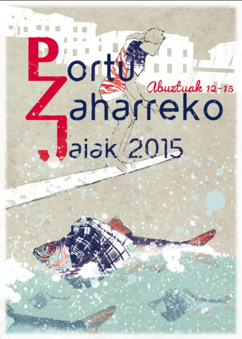 Cartel de fiestas Puerto Viejo 2015 -1