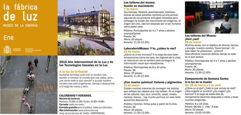 Maquetación de folleto para La Fábrica de Luz. Museo de la Energía 3