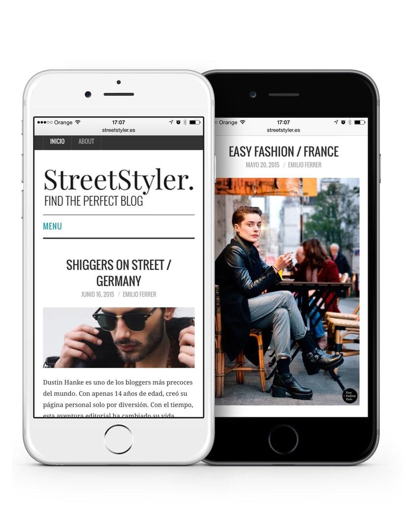 StreetStyler. Branding & blog design. 3