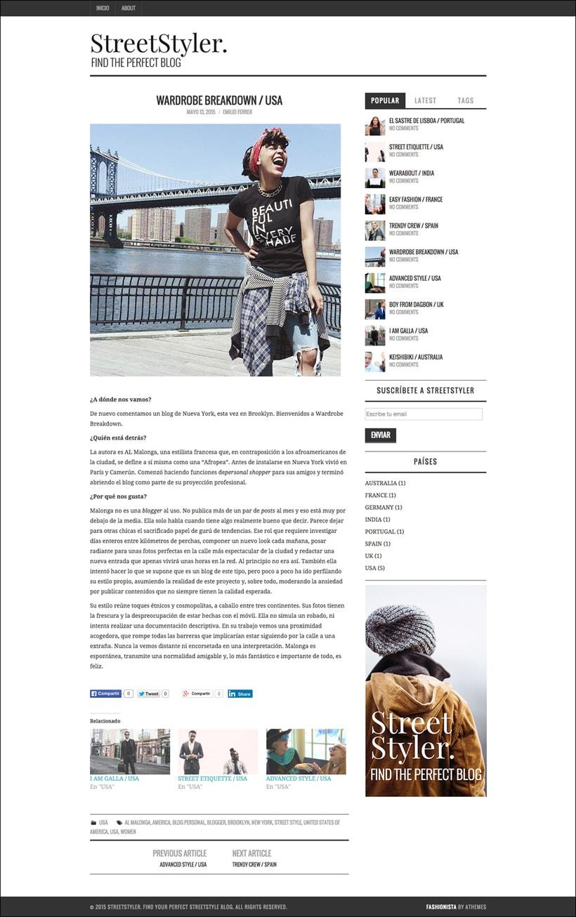 StreetStyler. Branding & blog design. 1