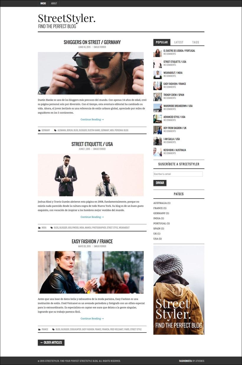 StreetStyler. Branding & blog design. 2